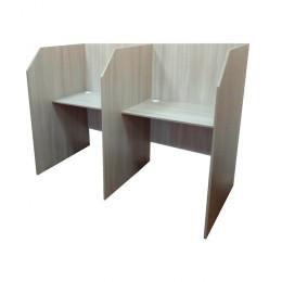 кабинка стол для колл центра 2-места. 900мм глубина перегородки.угол