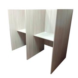 кабинка стол для колл центра 2-места. 900мм глубина перегородки