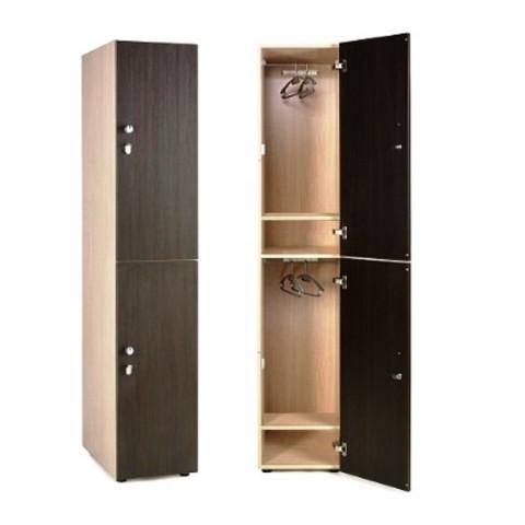 Шкаф для раздевалки 2х-этажный. штанга