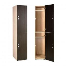 Шкаф для раздевалки 2х-этажный крючки