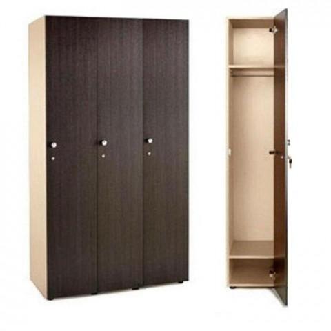 Шкаф для раздевалки 3 секционный 1770x964x450 ЛДСП