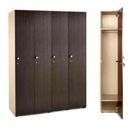 Шкаф для раздевалки 4 секционный 1770x1280x450 ЛДСП