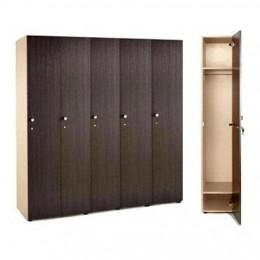 Шкаф для раздевалки 5 секционный 1770x1596x450 ЛДСП