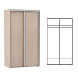 шкаф купе 2 двери. 2 штанги. высота 2,2м. глубина 400мм