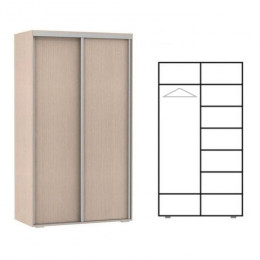 шкаф купе 2 двери. полки и 1 штанга. высота 2,2м. глубина 400мм
