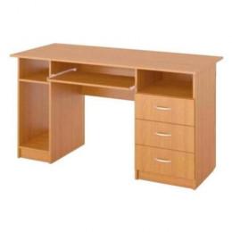 стол однотумбовый 3ящика + подставка системник