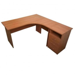 стол эргономичный 1500х1200 + тумба