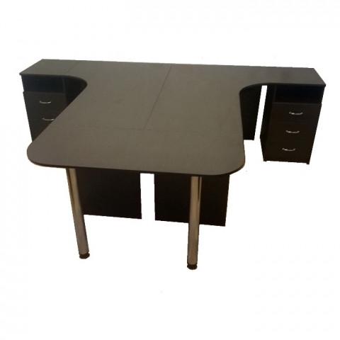 комплект эргономичных столов с тумбами