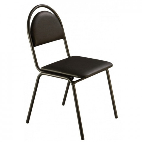 стул Стандарт СМ-7 кожзам черный