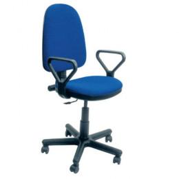 кресло офисное Престиж синяя-ткань