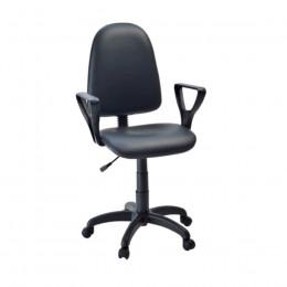 кресло офисное Престиж черный кожзам