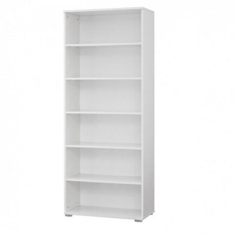 Стеллаж книжный Белый 1950х800х200 ЛДСП