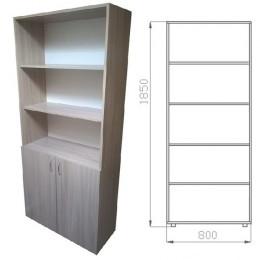 шкаф книжный 1950х800х330 полузакрытый ЛДСП
