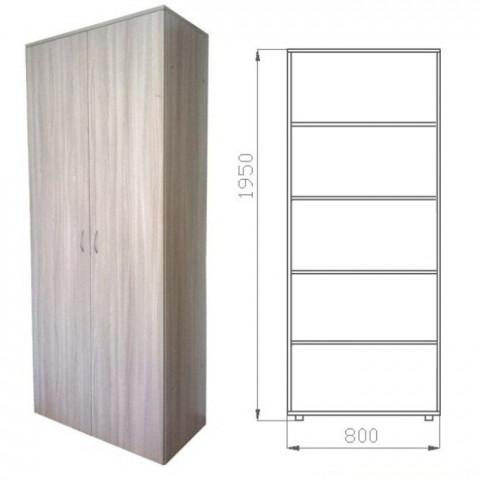 шкаф книжный закрытый с полками 1950х800х400 ЛДСП