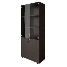 шкаф книжный со стеклом 1950х800х330 ЛДСП