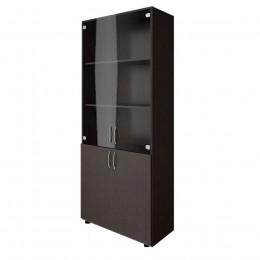 шкаф книжный со стеклом 1950х800х400 ЛДСП
