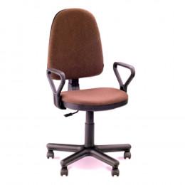кресло офисное Престиж коричневая ткань
