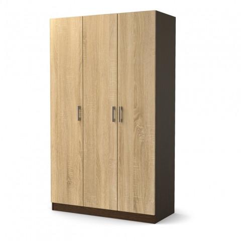 Шкаф для одежды 3-двери ЛДСП с полками