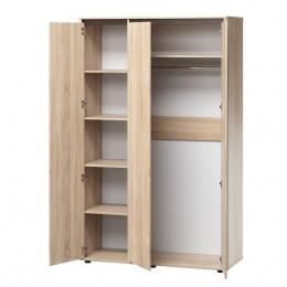 Шкаф для одежды 3-двери ЛДСП штанга и полки
