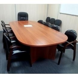 стол переговорный закруглённые углы (цельная столешница)