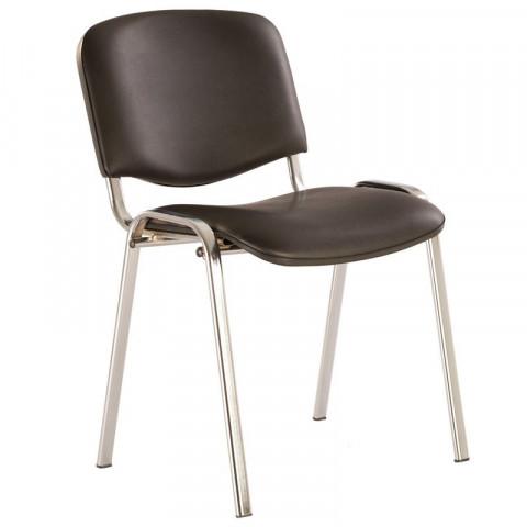 стул Изо Хром кожзам черный